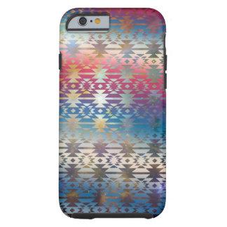 Smoky Pastel Aztec Night Sky stars pink blue mauve Tough iPhone 6 Case