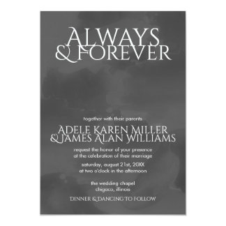 Smoky Watercolor | Always & Forever | Wedding Card