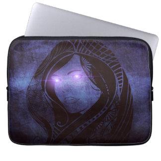 Smoldering gaze laptop sleeve