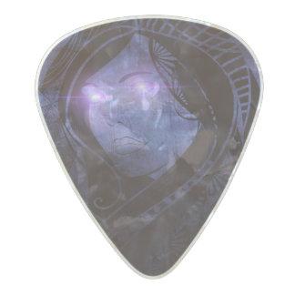 Smoldering gaze pearl celluloid guitar pick