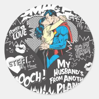 Smooch, Smack - Collage Classic Round Sticker