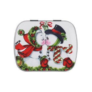 Smooching Snow Couple