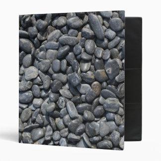 Smooth Black Pebbles Binder