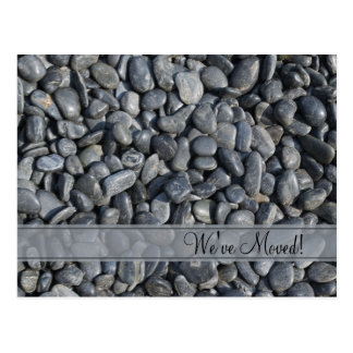 Smooth Black Pebbles Change of Address Postcard