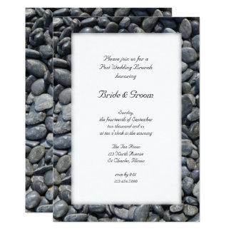 Smooth Black Pebbles Post Wedding Brunch Invite