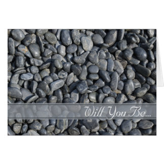 Smooth Black Pebbles Will You Be My Groomsman Card
