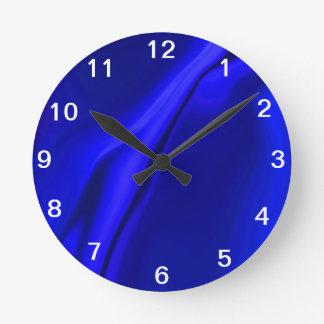 Smooth Blue Design Round Clock