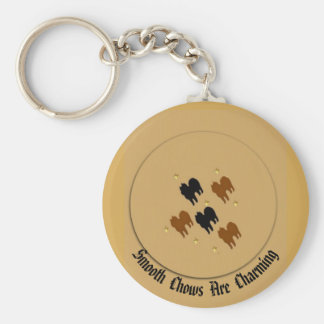 Smooth Chows Key Chain
