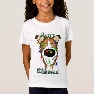 Smooth Collie Christmas Lights T-Shirt