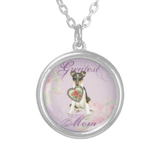 Smooth Collie Heart Mom Silver Plated Necklace