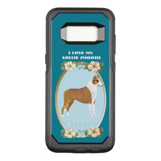 Smooth Collie on Teal Floral OtterBox Commuter Samsung Galaxy S8 Case