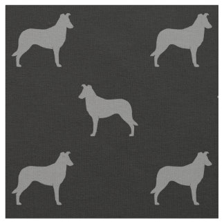 Smooth Collie Silhouettes Pattern Fabric