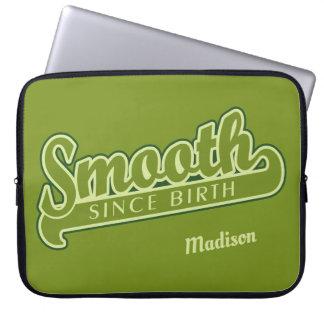 SMOOTH custom name laptop sleeves