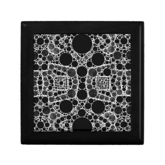 Smooth Fancy Blk&Wht Pattern Keepsake Boxes