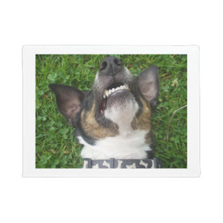 smooth fox terrier chillin doormat