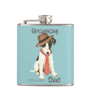 Smooth Fox Terrier Dad Hip Flask