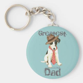Smooth Fox Terrier Dad Keychain