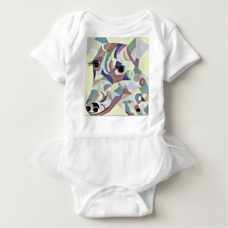 Smooth Fox Terrier Denim Colors Baby Bodysuit