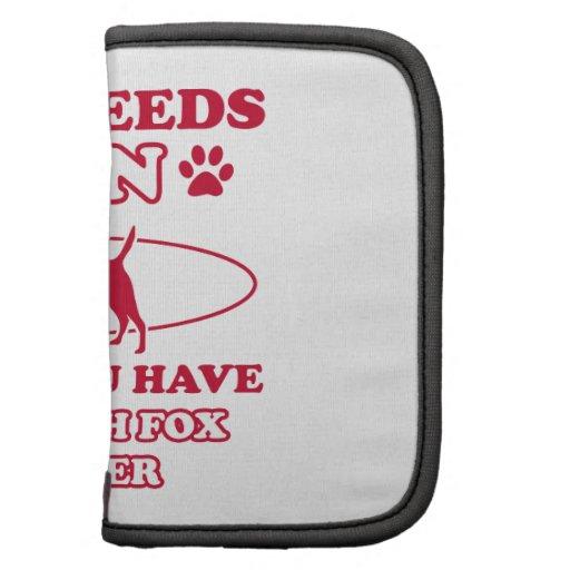 Smooth Fox Terrier dog breed designs Folio Planner
