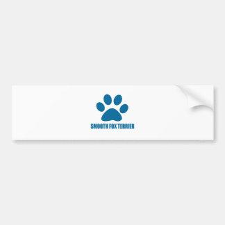 SMOOTH FOX TERRIER DOG DESIGNS BUMPER STICKER