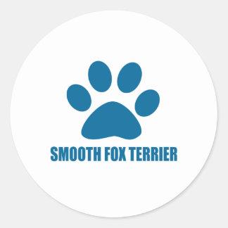 SMOOTH FOX TERRIER DOG DESIGNS CLASSIC ROUND STICKER
