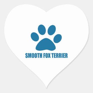 SMOOTH FOX TERRIER DOG DESIGNS HEART STICKER