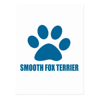 SMOOTH FOX TERRIER DOG DESIGNS POSTCARD