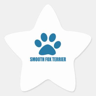 SMOOTH FOX TERRIER DOG DESIGNS STAR STICKER