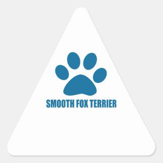 SMOOTH FOX TERRIER DOG DESIGNS TRIANGLE STICKER