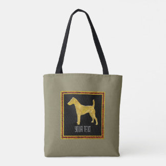 Smooth Fox Terrier Gold Your Color Tote Bag