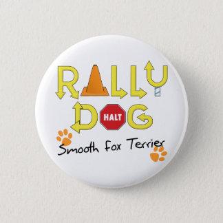 Smooth Fox Terrier Rally Dog 2 Inch Round Button