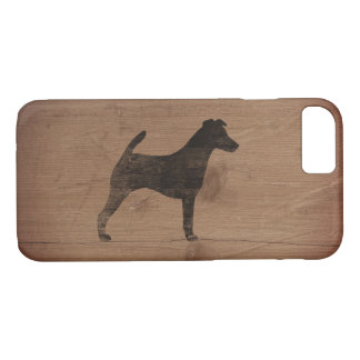 Smooth Fox Terrier Silhouette Rustic Case-Mate iPhone Case
