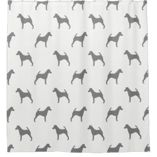 Smooth Fox Terrier Silhouettes Pattern