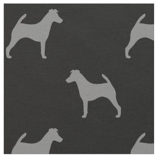 Smooth Fox Terrier Silhouettes Pattern Fabric