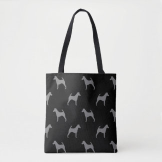 Smooth Fox Terrier Silhouettes Pattern Tote Bag