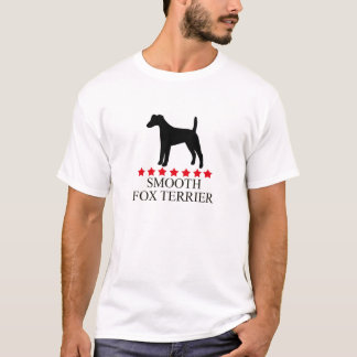 Smooth Fox Terrier T-shirt with Red Stars