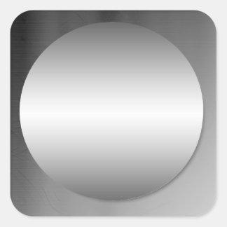 Smooth Framed Metal Circle Sticker