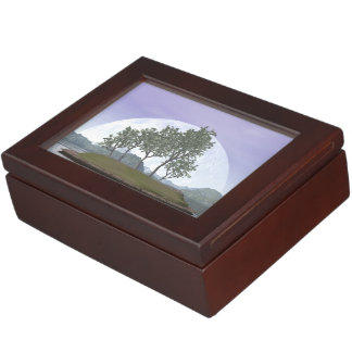 Smooth leaved elm bonsai tree - 3D render Keepsake Boxes