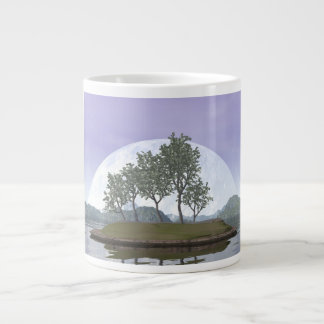 Smooth leaved elm bonsai tree - 3D render Large Coffee Mug