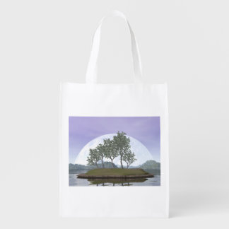Smooth leaved elm bonsai tree - 3D render Reusable Grocery Bag
