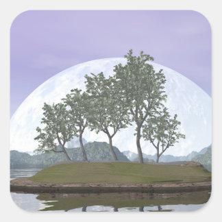 Smooth leaved elm bonsai tree - 3D render Square Sticker
