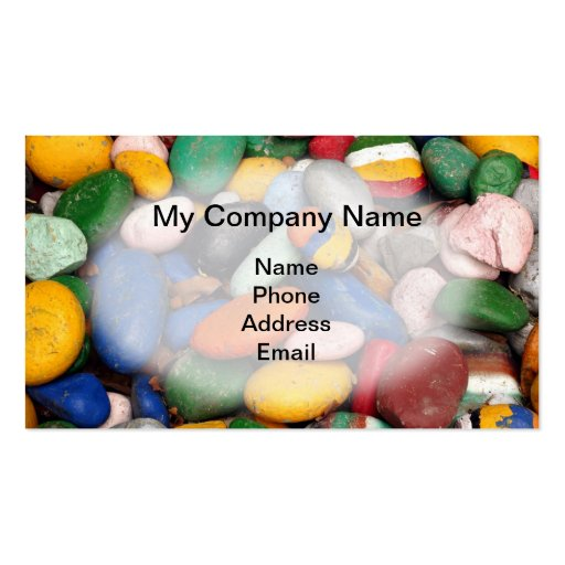 Smooth Pebbles in Bright Colors - Art Background Business Card