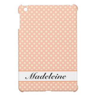 Smooth pink spots, label and monograma iPad mini cases