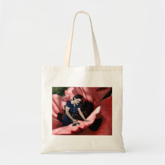 Smooth Poppy Flower Reusable Tote Bag