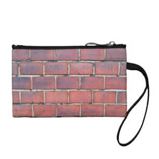 Smooth Red Brick Wall Detail Coin Purse