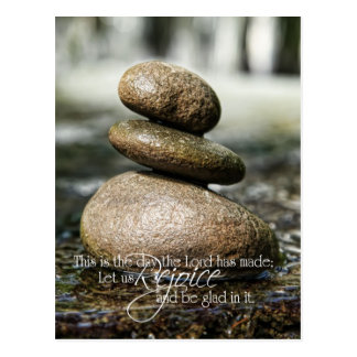 Smooth Rocks in Water Psalm 118 Postcard