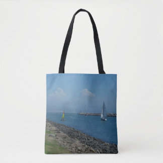 Smooth sailing ahead tote bag