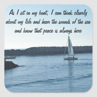 Smooth Sailing Custom Message Stickers