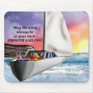 Smooth sailing!. mouse pad