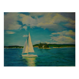 Smooth Sailing print on post card